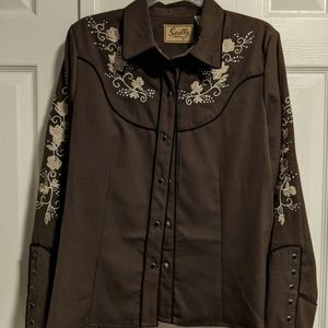 Ladies embroidered western shirt